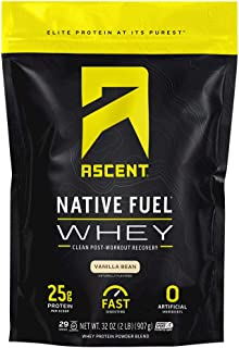 Ascent Native Fuel Whey Protein Powder - Vanilla Bean - 2 lbs