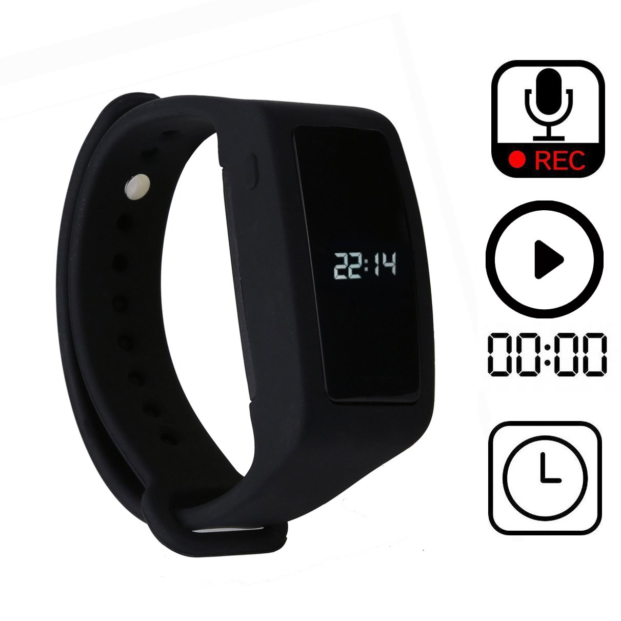 Bracelet Voice Activated Recorder With Speaker 8gb Voice