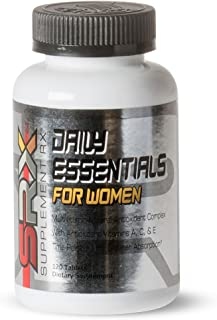 SupplementRx (SRX - Daily Essentials Multivitamin for Women, Daily Energy Support, time Released, no Sugar, allergen Free,...