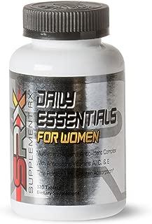 SupplementRx (SRX - Daily Essentials Multivitamin for Women, Daily Energy Support, time Released, no Sugar, allergen Free, Gluten Free, High B-Complex, Hypoallergenic, Antioxidants 120 Tablets
