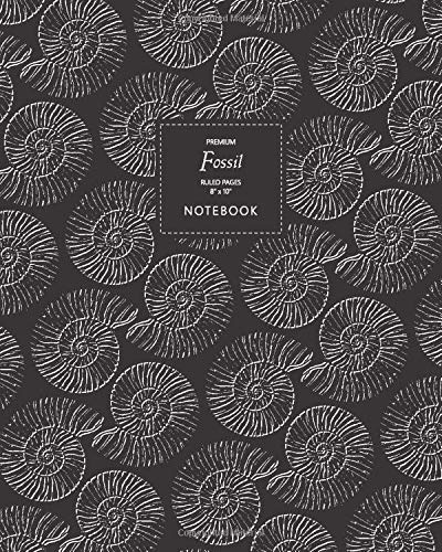 Fossil Notebook - Ruled Pages - 8x10 - Premium Notizbuch (Black)