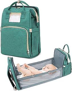 Schneespitze 2Pcs Mutifunktionale Wickeltasche,Baby Wickelrucksack Wickeltasche,Multifunktional Babytasche Wasserdichte Wickelrucksack Tasche Baby Wickeltasche