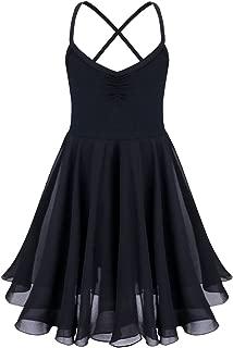Freebily Girls Camisole Empire Waist Ballet Leotard Modern Contemporary Ballroom Lyrical Dance Dress Dancing Clothes Outfit