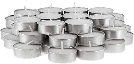 Michael Zohar Candles Unscented Tealight Candles Bulk 125 Pack White Wax 4 Hour Burn Time Premium Quality