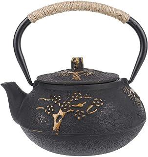 Tetera de 0.9 litros Tetera de hierro fundido Tetera resistente a la corrosión Olla resistente al calor Tetera Tetera para el hogar Juego de té de regalo