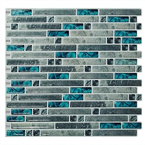 Cocotik 10.5'x10' Peel and Stick 3D Wall Tile for Kitchen Backsplash - Pack of 6