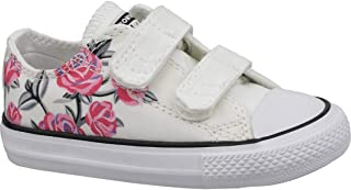 fe8f149f6660c9 Converse Chuck Taylor All Star 2V Pretty Strong White Cotton Baby Trainers  Shoes