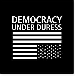 CafePress Democracy Under Duress ??? Square Sticker 3 X 3 Square Bumper Sticker Car Decal, 3