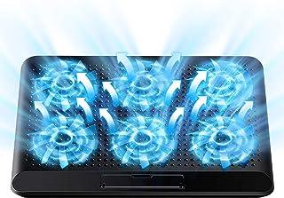 2021年最新版 ノートパソコン 冷却パッド 冷却台 ノートPCクーラー 6つ冷却ファン 超静音 風量調節 6段階角度調整 USBポート2口 17インチ型まで対応(ブラック)