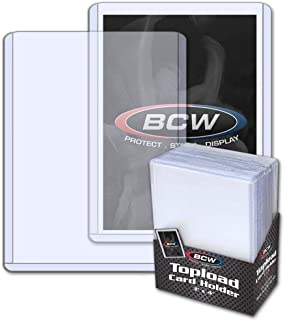 BCW (25) Brand Trading Card Toploaders - Rigid Plastic Sleeves - TCSVTH
