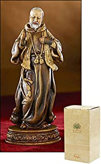 Bella Catholic Patron Saint St Padre Pio Statue, 6 1/4 Inch