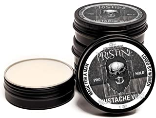 Beard Gains Pristine Scent Strong Hold Mustache Wax 1Oz - Hold, Mold, And Tame Moustache W/Organic And Natural Stache Wax ...