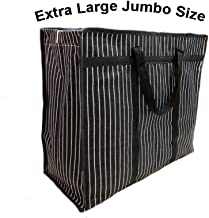 sanjis enterprises Multipurpose Extra Large Big Heavy Duty Storage Organizer Canvas Bag with Strong Handles and Base with ...