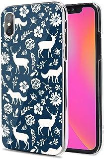 Huawei P40 Pro 5G ケース カバー スマホケース ハード TPU 素材 おしゃれ かわいい 耐衝撃 花柄 人気 全機種対応 青い背景の鹿と狼 アニマル ファッション シンプル 9791059
