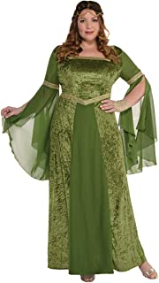 Amscan Costume 8400567 Adult Renaissance Gown Plus Size, Green