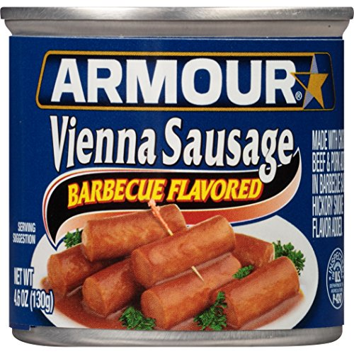 Armour Star Vienna Sausage, Barbecue Flavored, Canned Sausage, 4.6 OZ