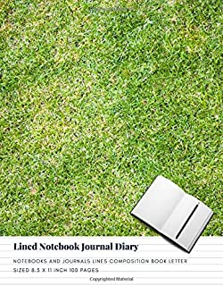 Lined Notebook Journal Diary: Notebooks And Journals Lines Composition Book Letter sized 8.5 x 11 Inch 100 Pages (Volume 12)