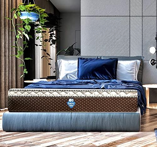 Colchón Individual Firmeza Media Spring Air con Tela con Aromaterapia Relajante   Eurotop   Modelo Seam Spring Air   5 años de Garantía