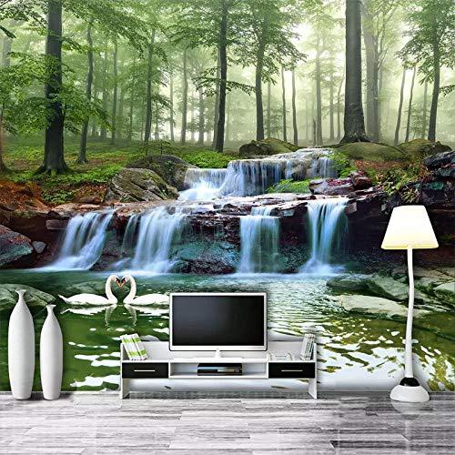 TV achtergrond muur woonkamer TV achtergrond muur papier 3D driedimensionale slaapkamer behang film en bomen houten op maat behang grijs muur Sticker Border zelfklevende baksteen badjas (W)250cm×(h)170cm