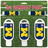 Worthy Promo NCAA Michigan Wolverines 5-Piece Game Day Pack with 2 Lip Balms, 1 Hand Lotion, 1 Hand Sanitizer, 1 SPF 30 Sport Sunscreen