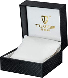 Tevise Luxury PU Leather Pocket Watch Gift Box Display Storage Case