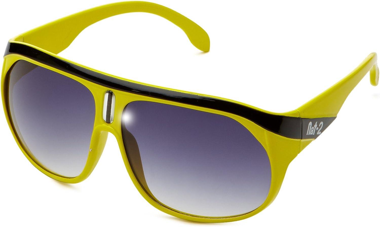 Nat-2 Lunettes de Soleil Mixte Jaune (Yellow)
