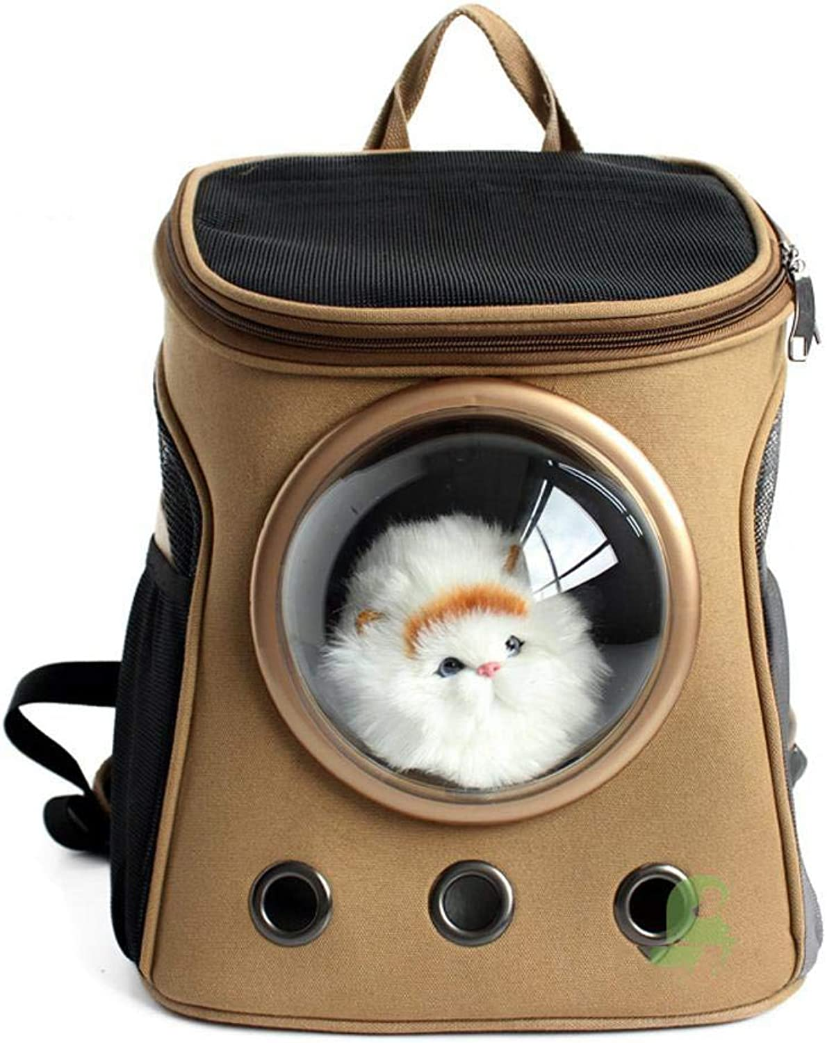 Maerye Pet Supplies Canvas space capsule Pet backpack transparent breathable backpack outdoor portable small cat bag pet transport bag