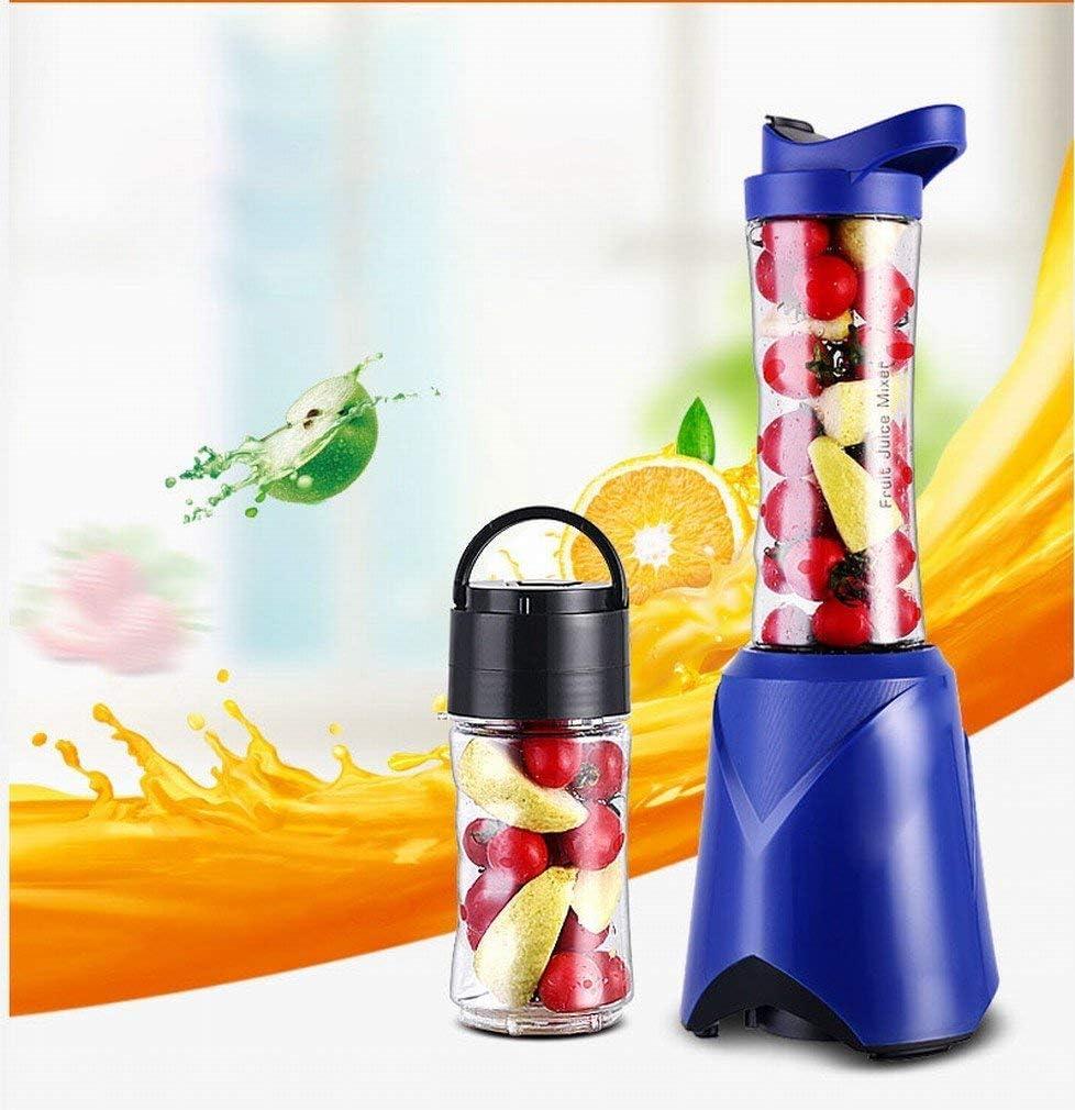 Exprimidor automático de usos múltiples cocina portátil jugo de frutas Batido Mini automático Mini Orange Juice Press, azul, 150 * 130 * 380mm LMMS (Color : Blue) Blue