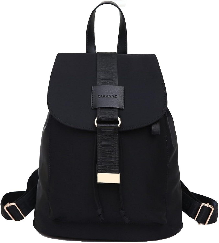 Backpack Ladies Korean Version Oxford Cloth Shoulder Bag 3 color Optional Bucket Type,BlackOneSize