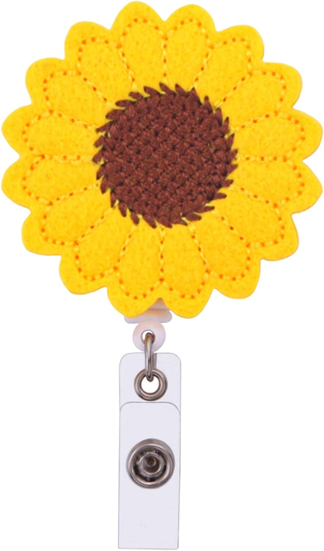 Import Badge Reel Sunflower ID Clip Holder Manufacturer direct delivery Retractable