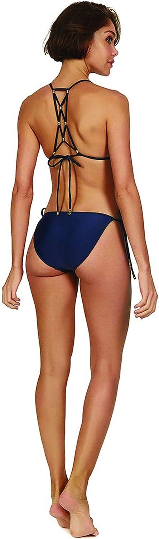 ViX Paula Hermanny Women's Tie Side Solid Full Coverage Bikini Bottoms