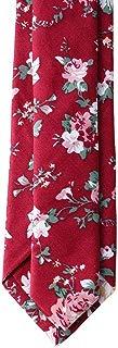 Floral Tie Men's Cotton Printed Flower Neck Tie Skinny Neckties, 12, Size Small