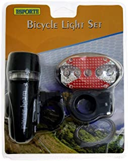 5 LED Bike Bicycle Front Head Light with Tail light Set Waterproof Road MTB Mountain Bike Rear Light Cycling Lamp Flashlig...