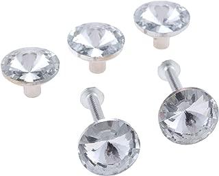 Mgoodoo 5pcs 20mm Diamond Crystal Knob Drawer Pull Kitchen Cabinet Wardrobe Handle