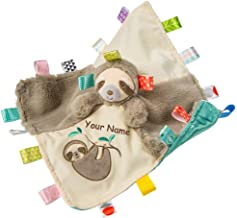 Personalized Taggies Molasses Sloth Character Sensory Blanket Snuggle Blanky - 13 Inches