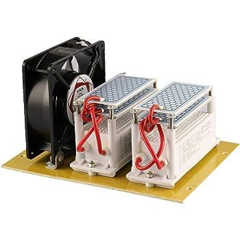 JIAN YA NA 220V 20G 20000mg / h Generador de Ozono Purificador de Aire de Cerámica Generador de Ozono Ozonizador: Amazon.es: Hogar