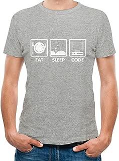 Eat Sleep Code - Funny Gift for Programmer Coder Men's T-Shirt