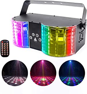 U`King Stage Lights Mixed Effect Sound Activated RGBW LED Dj Lights by Remote Control and DMX 512 Controlled for Club Disco Wedding Birthday Party Lighting