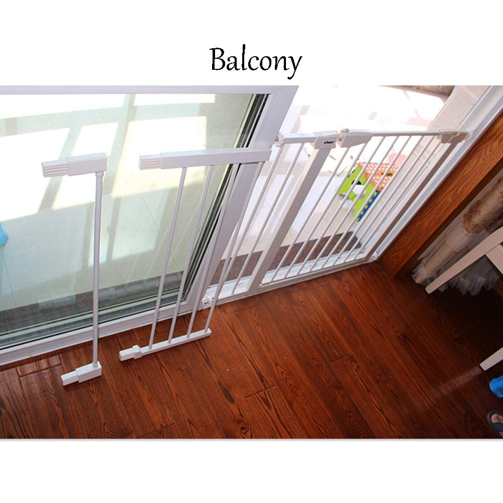 Bebé Puerta De Escalera Reja De Seguridad Blanco Aislar Mascotas Cierre Automático Escalera Balcón Barandilla Protectora Escalable 75 Cm De Altura, 14 Tamaños (Color : White, Size : Width 83-90cm): Amazon.es: Hogar