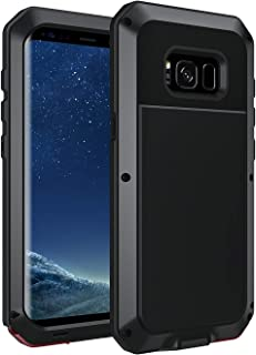 Seacosmo Protective Case for Galaxy S8, Full Body Military Rugged Heavy Duty Shockproof Dual Layer Bumper Case Cover(Without Screen Protector), Black