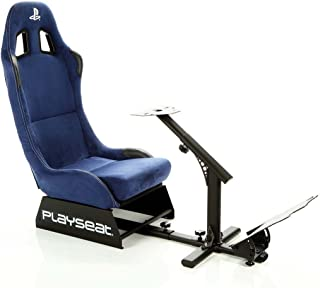 Playseat Evolution Playstation Edition Racing Video Game Chair for Nintendo Xbox Playstation CPU Supports Logitech Thrustmaster Fanatec Steering Wheel and Pedal Controllers