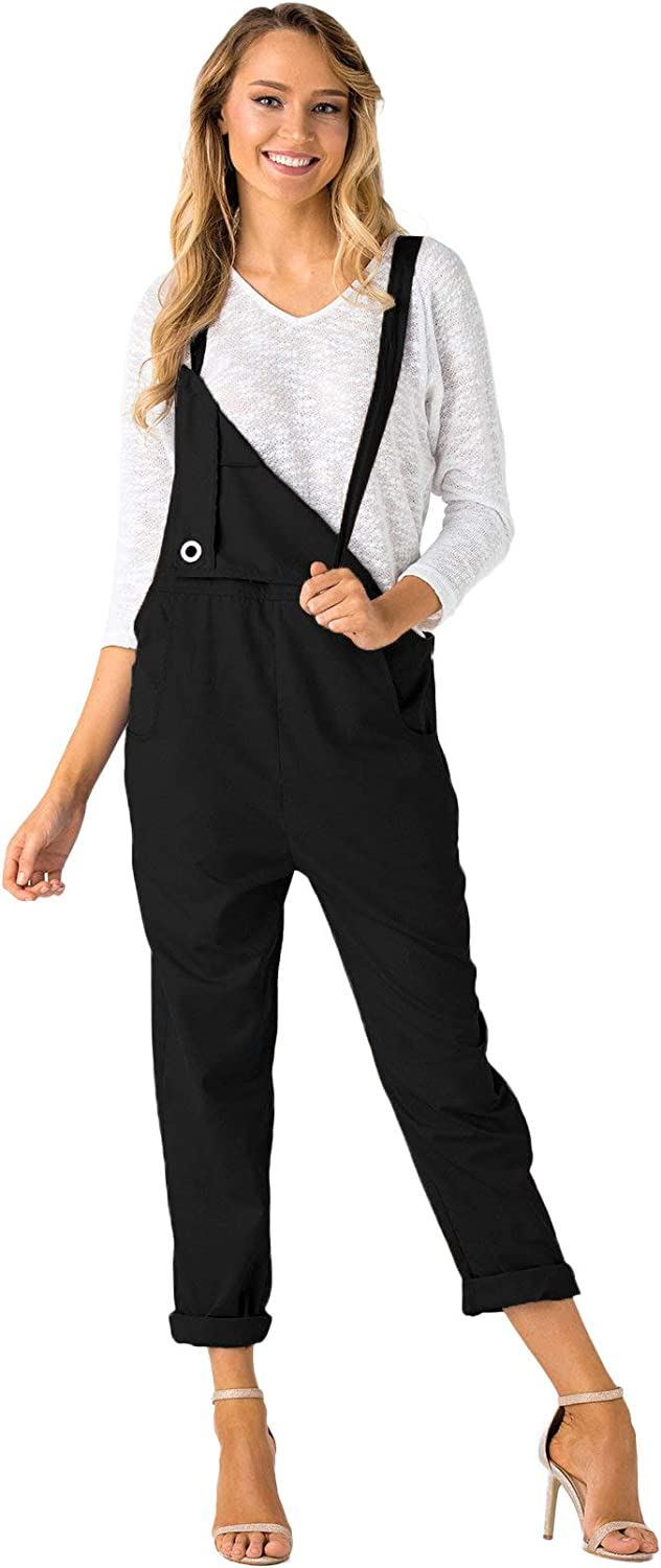 YOINS Fashion Overalls for Women Bib Baggy Dungaree Square Neck Adjustable Strap Rompers Jumpsuits: Clothing