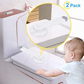 McKain Toilet Locks Child Safety - Baby Proof Toilet Lid Lock Bathroom Toilet Seat Locks for Little Kids No Tools Needed Easy Installation (2 packs)