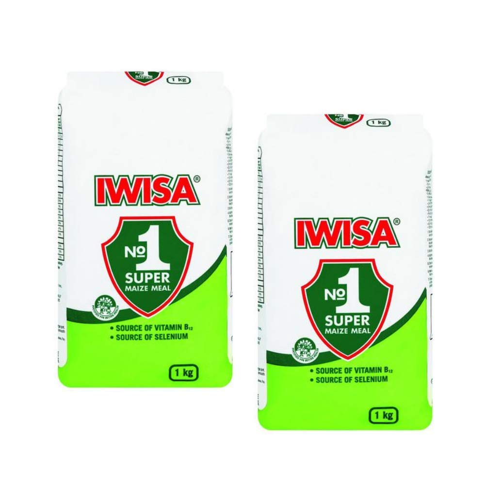 Iwisa No.1 Super Maize Meal   South African Maize Meal Flour   2kg (2 x 1kg)