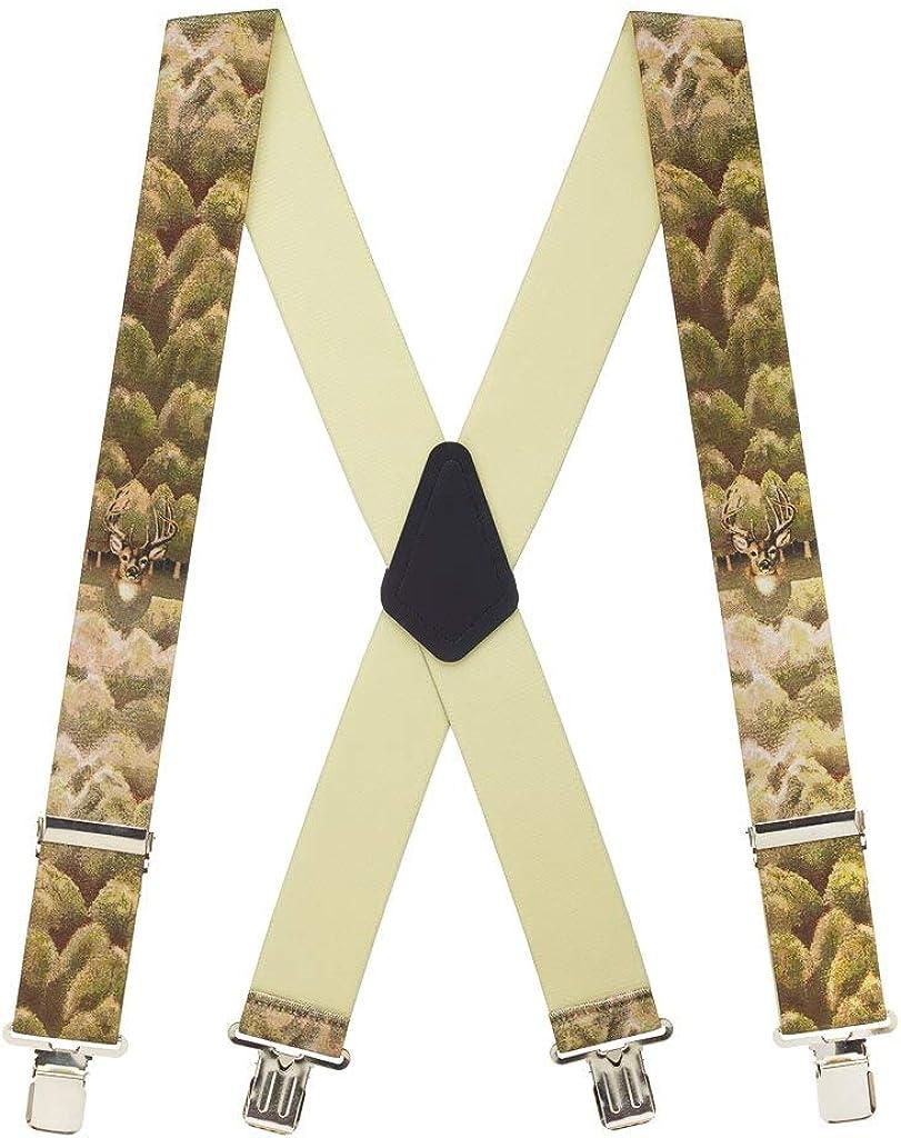 SuspenderStore Men's Deer Clip-End Novelty Suspenders - 2 Inch Wide (3 Sizes)