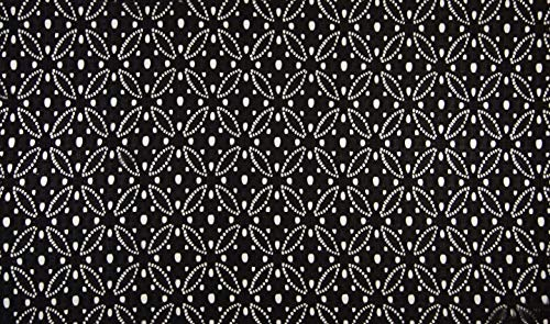 Fabrics de City negro BI elástico de punta plástico Stretch Punta Círculos de imitación policíclicos, 4368-xxx