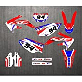 Pegatina Gráfico del Equipo Motocicleta CRF450X 2007-2005 Pegatinas Calcomanías Fondos Gráficos Kits para Honda CRF 450X CRF450X 2005 2006 2007 CRF-450X (Color : 5)