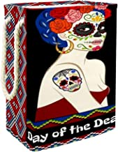 Laundry Bag Dia De Los Muertos with Calavera Woman and Sugar Skull Large Storage Bin Storage Basket Clothes Laundry Hamper...
