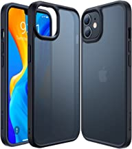 TORRAS Shockproof Designed for iPhone 12 Mini Case [6FT Military Grade Drop Tested] Slim Fit Hard iPhone 12 Mini Case with Silicone Bumper, Translucent Matte Case for iPhone 12 Mini 5.4 Inch, Black