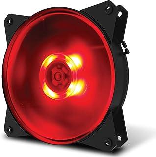 Fan para Gabinete Cooler Master, MasterFan 120mm MF120L LED, Vermelho